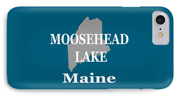 IPhone Case featuring the photograph Moosehead Lake Maine State Pride  by Keith Webber Jr