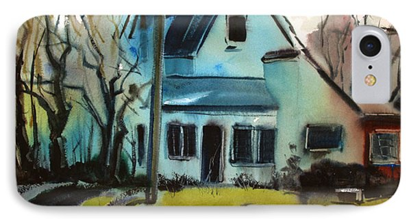IPhone Case featuring the painting Moppity's House Matted Framed Glassed by Charlie Spear
