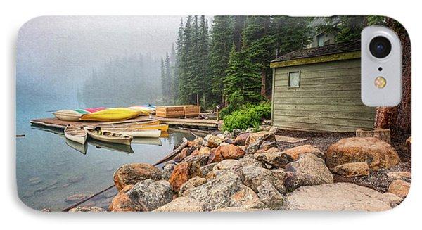 Moraine Lake And Boathouse IPhone Case