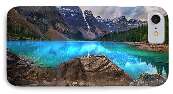 Moraine Lake IPhone Case by John Poon