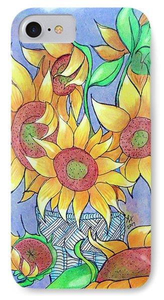 More Sunflowers Phone Case by Loretta Nash