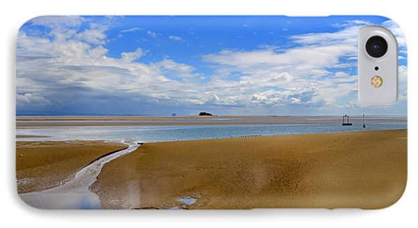 Morecambe Bay Cumbria Phone Case by Louise Heusinkveld