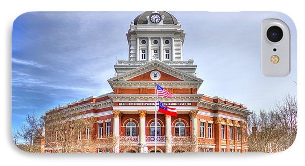 Morgan County Court House Flags Waving IPhone Case