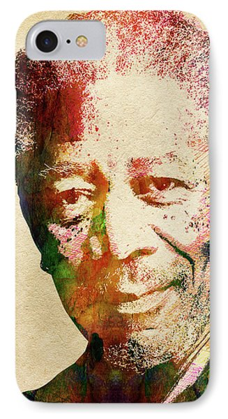 Morgan Freeman IPhone Case by Mihaela Pater