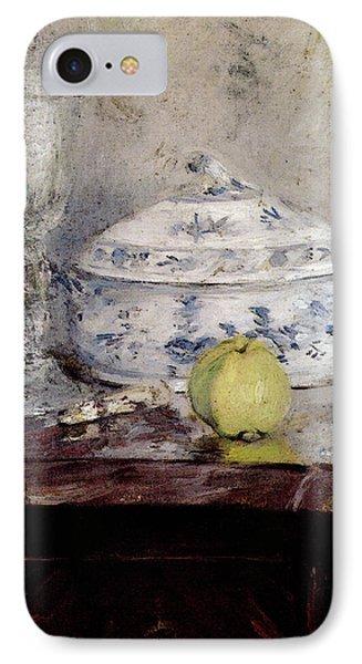 Morisot Berthe Tureen And Apple IPhone Case by Berthe Morisot