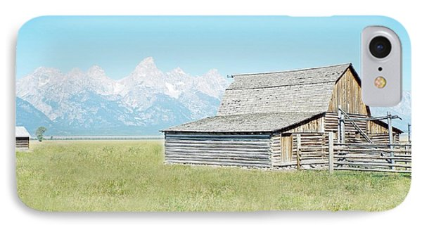 IPhone Case featuring the photograph Mormon Row Barn - Grand Tetons by Joseph Hendrix