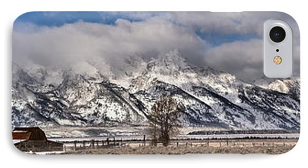 IPhone Case featuring the photograph Mormon Row Extended Panorama by Adam Jewell