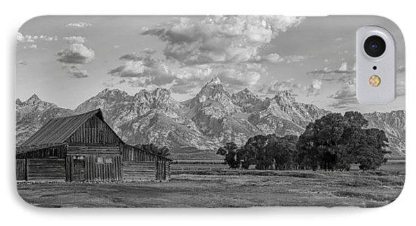 Mormon Row Farm In Black And White IPhone Case by Andres Leon