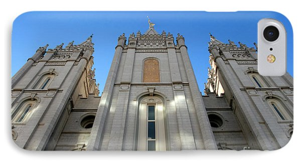 Mormon Temple IPhone Case by David Lee Thompson