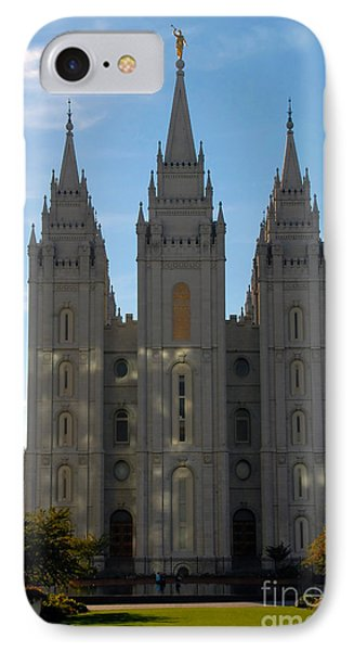 Mormon Temple Fall IPhone Case by David Lee Thompson