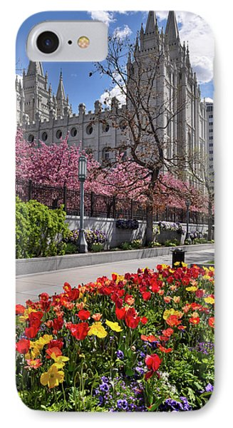 Mormon Temple IPhone Case by Utah Images