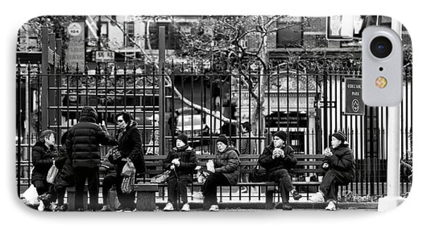 IPhone Case featuring the photograph Morning At Columbus Park by John Rizzuto