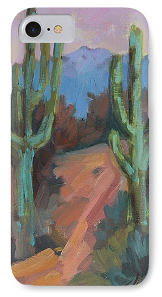 IPhone Case featuring the painting Morning At Fort Apache by Diane McClary