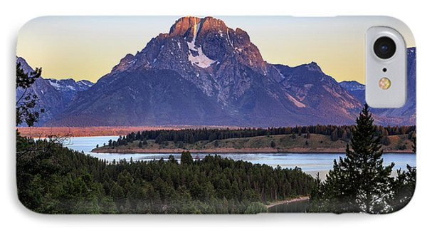 IPhone 7 Case featuring the photograph Morning At Mt. Moran by David Chandler