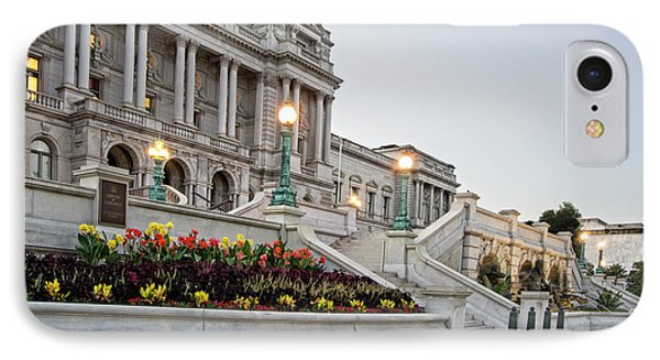 IPhone Case featuring the photograph Morning At The Library Of Congress by Greg Mimbs