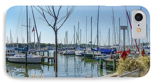 IPhone Case featuring the photograph Morning At The Marina by Charles Kraus