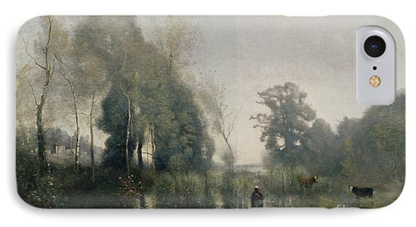 Morning At Ville Davray IPhone Case by Jean Baptiste Camille Corot