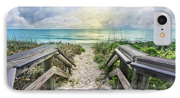 IPhone Case featuring the photograph Morning Blues At The Dune by Debra and Dave Vanderlaan
