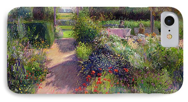 Garden iPhone 7 Case - Morning Break In The Garden by Timothy Easton