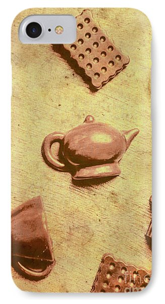 Morning Breakfast Chocolate Tea Set  IPhone Case by Jorgo Photography - Wall Art Gallery
