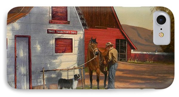 Morning Chores IPhone Case