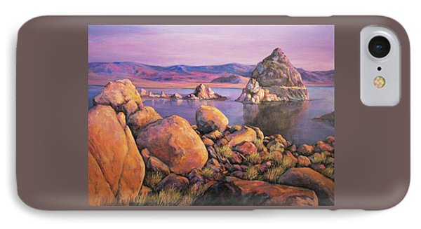 Morning Colors At Lake Pyramid IPhone Case by Donna Tucker