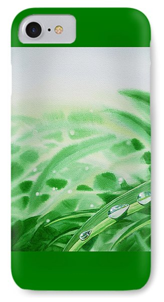 Morning Dew Drops IPhone Case by Irina Sztukowski