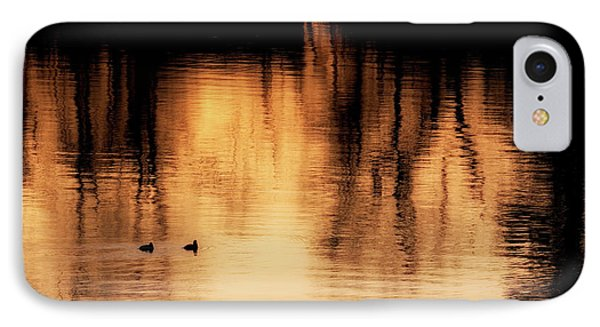 IPhone 7 Case featuring the photograph Morning Ducks 2017 by Bill Wakeley