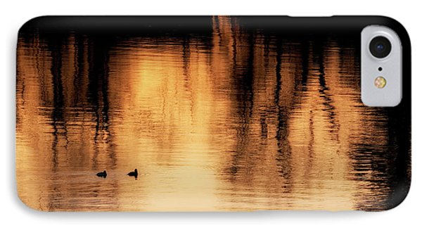 IPhone Case featuring the photograph Morning Ducks 2017 by Bill Wakeley