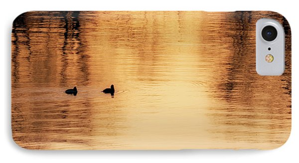 IPhone Case featuring the photograph Morning Ducks 2017 Square by Bill Wakeley