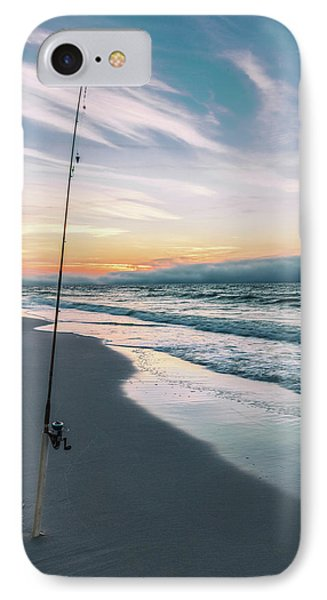 IPhone Case featuring the photograph Morning Fishing At The Beach  by John McGraw