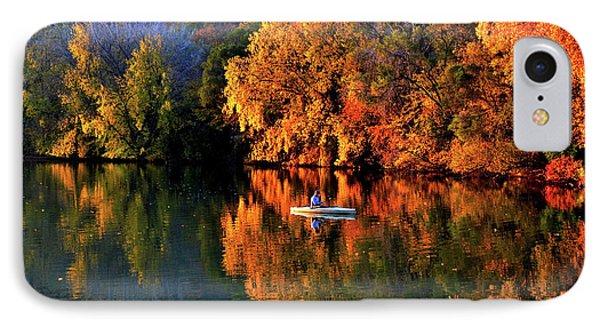 Morning Fishing On Lake Winona IPhone Case