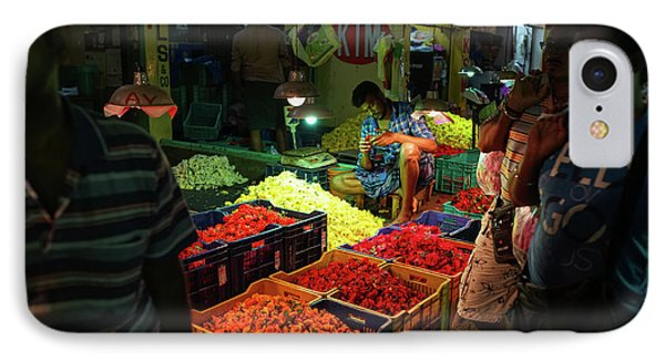 IPhone Case featuring the photograph Morning Flower Market Colors by Mike Reid