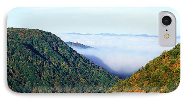 Morning Fog At Sunrise In Autumn IPhone Case by Panoramic Images
