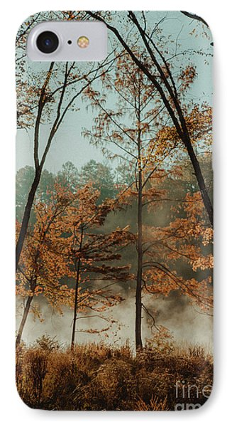 IPhone Case featuring the photograph Morning Fog At The River by Iris Greenwell