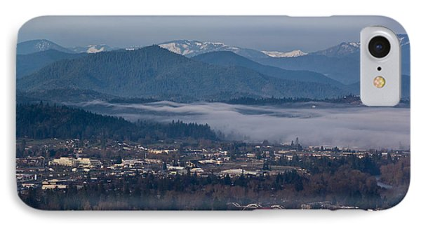 Morning Fog Over Grants Pass Phone Case by Mick Anderson