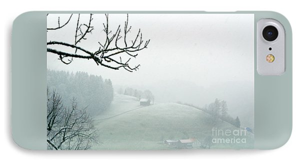 IPhone Case featuring the photograph Morning Fog - Winter In Switzerland by Susanne Van Hulst