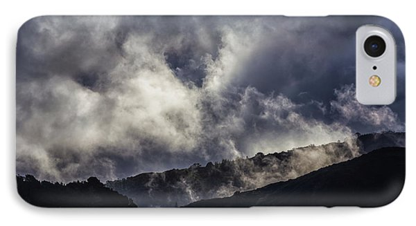 Morning Fog,mist And Cloud On The Moutain By The Sea In Californ IPhone Case by Jingjits Photography