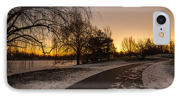 IPhone Case featuring the photograph Morning Glow Along Hoyt Lake by Chris Bordeleau