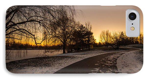 Morning Glow Along Hoyt Lake IPhone Case by Chris Bordeleau