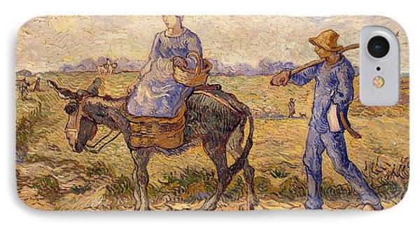 Morning Going Out To Work Phone Case by Vincent Van Gogh