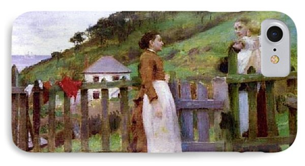 IPhone Case featuring the painting Morning Gossip by Henry Scott Tuke