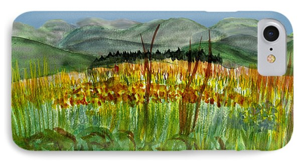 IPhone Case featuring the painting Morning In Backyard At Barton by Donna Walsh