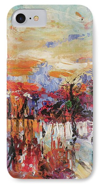 Morning In The Garden IPhone Case by Kovacs Anna Brigitta