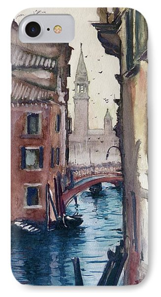 Morning In Venice IPhone Case by Geni Gorani