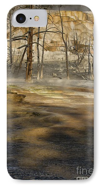 Morning Light On  Mammoth Terrace IPhone Case by Sandra Bronstein