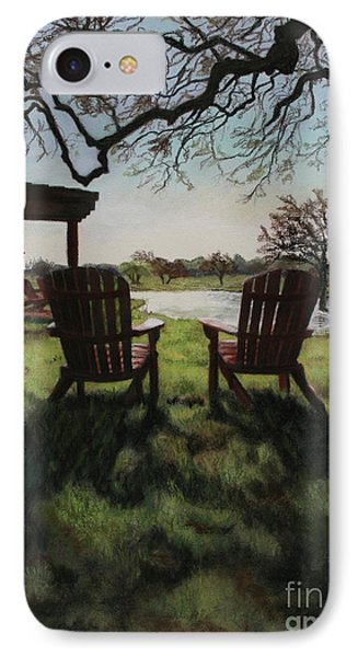 Morning Light At The Vineyard Florence Texas Phone Case by Kelly Borsheim