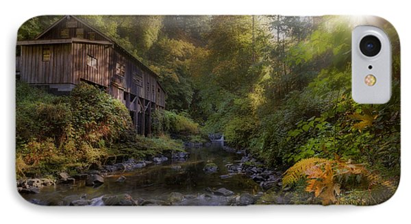 Morning Light Cedar Creek Grist Mill Phone Case by David Gn