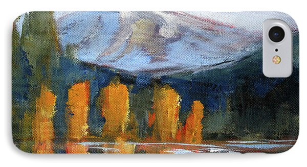 IPhone 7 Case featuring the painting Morning Light Mountain Landscape Painting by Nancy Merkle