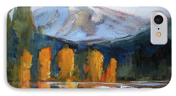 IPhone Case featuring the painting Morning Light Mountain Landscape Painting by Nancy Merkle